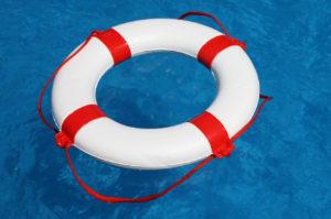 Rettungsring im Wasser