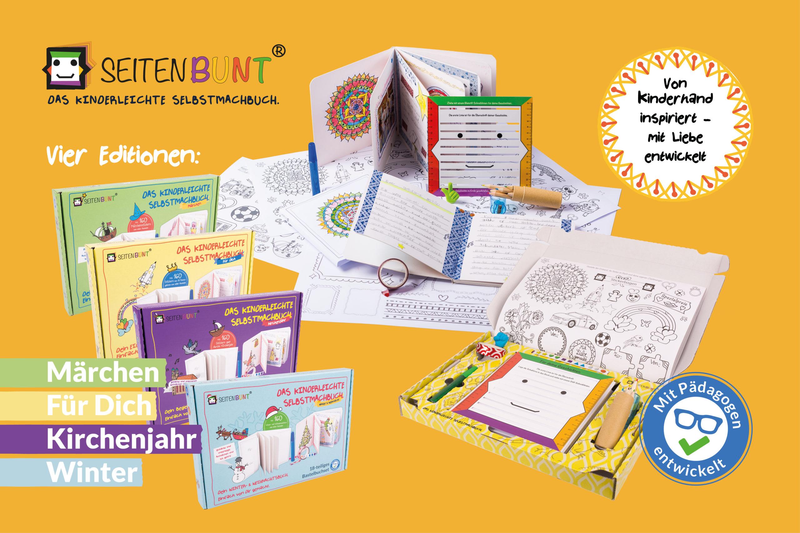 Das kinderleichte Selbstmachbuch gibt es zwischenzeitlich in acht unterschiedlichen Editionen mit den verschiedensten Motiven.