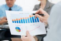 Graphen einer Geschäftsentwicklung