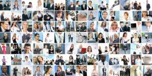 Collage von Business-Leuten