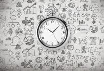 Zeitmanagement-Methoden: Zeitmanagement-Methoden: Uhr auf Grafik