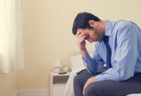 Business-Mann mit Depression