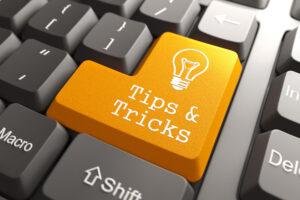 Tastatur mit Tipps und Tricks