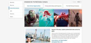 Die LinkedIn Unternehmensseite von Walt Disney