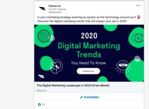 Werbeanzeige auf LinkedIn, der einer vorab selektierten Zielgruppe angezeigt wird