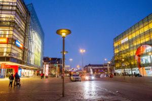 Blaue Stunde in Hamburgs Straßen