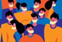 Unternehmensmarketing: Figuren mit Maske