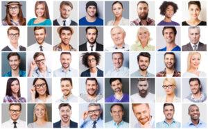 Collage von unterschiedlichen Menschen