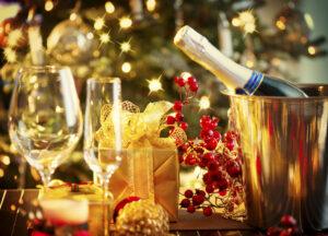 Weihnachten und Silvester Tischdekoration