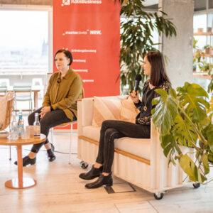 Die Gründerinnen der Gesundheitsapp uma, Elena Kirchner und Mirjam Peters