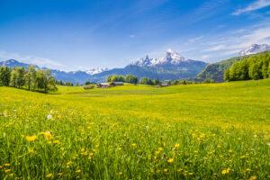 Idyllische Landschaft in den Alpen