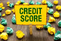 """Schild, auf dem steht """"Credit Score"""""""
