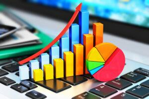 Steigende Grafik, Symbol Wachstum
