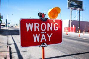 Schild: Falscher Weg