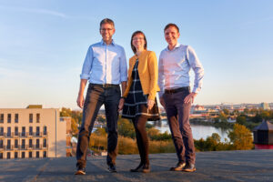 Das Team von Vertragswerk: André Engelhorn, Kati Pretsch und Daniel Maaß.