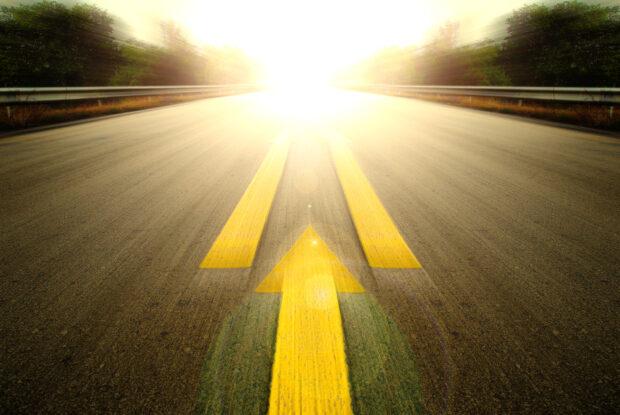Pfeile als Symbol für Speed, Geschwindigkeit