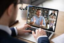 Videocall von zwei Geschäftsmännern