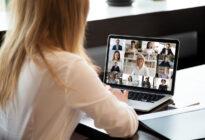 Videokonferenz mit Businessleuten