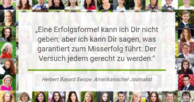 Erfolgsformel von Herbert Bayard Swope