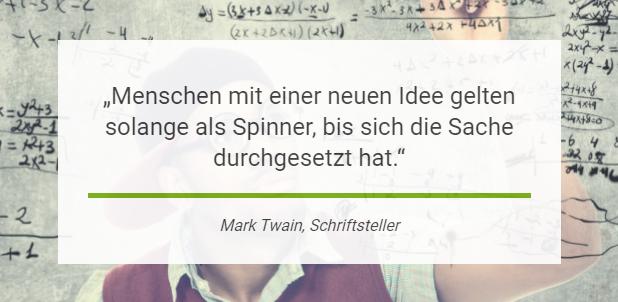 Mark Twain: Menschen mit einer neuen Idee