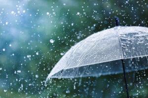Regenschirm rettet vor Nässe