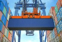 Kran und Container