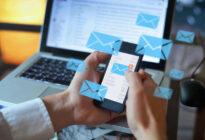 Bildschirm mit Emails
