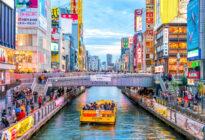 Dotonbori Einkaufsstraße in Osaka, Japan