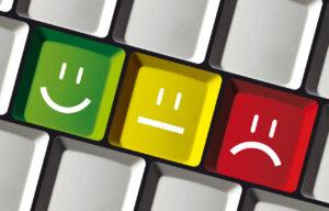 Feedback Smiley Buttons auf Tastatur