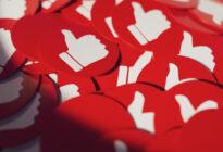 Daumen-hoch Buttons von Social Media